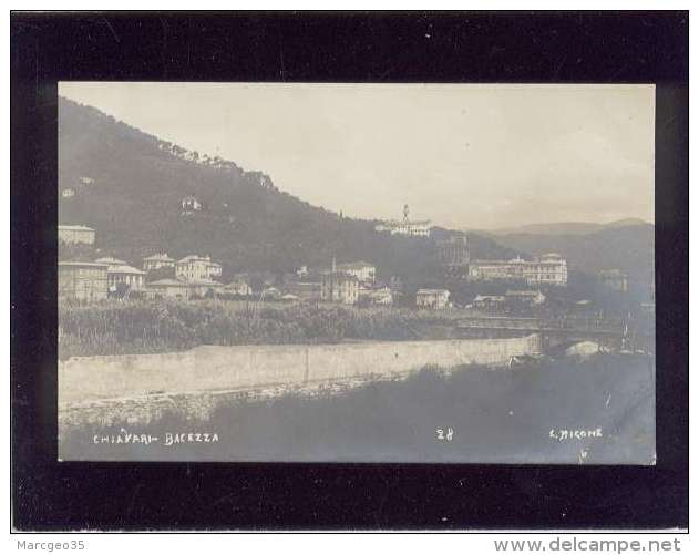 Chiavari  Bacezza  édit. E.migone N° 28 Carte Photo éditée - Autres Villes