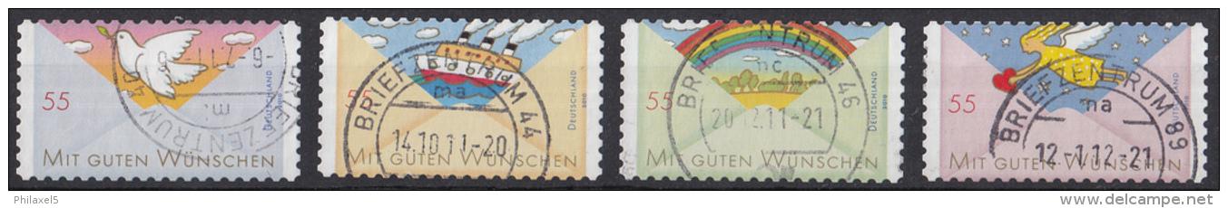 Duitsland - Grußmarken (III/IV) - Selbstklebend - Gebruikt/gebraucht/used - Michel 2827-2828-2848-2849 - Gebraucht