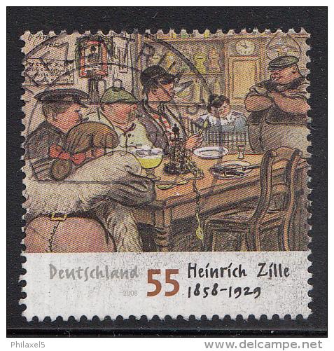 Duitsland - 150 Geburtstag Von Heinrich Zille  - Gebruikt/gebraucht/used - Michel 2640 - Gebraucht