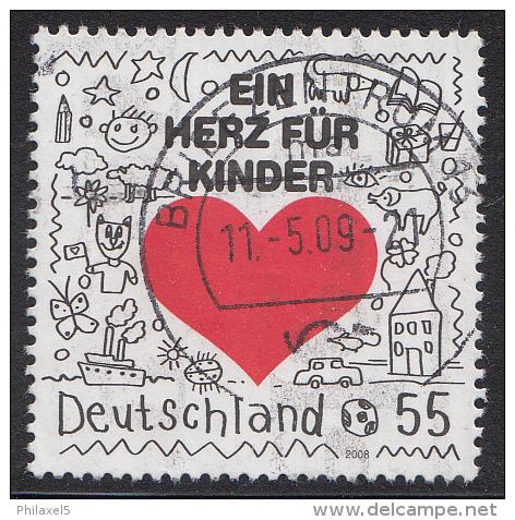 """Duitsland - Hilfsorganisation """"Ein Herz Für Kinder"""" - Gebruikt/gebraucht/used - Michel 2705 - Gebraucht"""