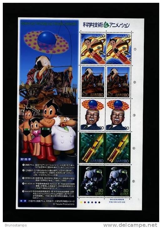 JAPAN/NIPPON - 2003  SCIENCE & THECNOLOGY 1st  SHEETLET  MINT NH - Blocks & Sheetlets