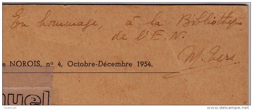 Fascicule. La Surface D´érosion Post Hercynienne En Vendée Littorale 1954 Par Mireille TERS Et Dédicacé Par Elle-même. - Pays De Loire