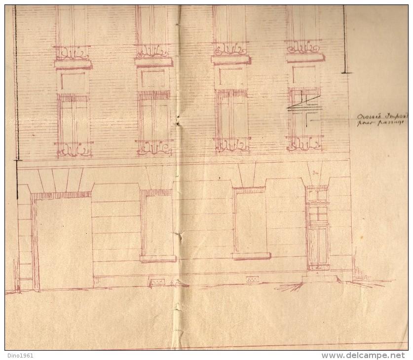 VP959 - LES LILAS -  Grand Plan ( 70 X 60 ) Propriété De Mr MELLIER / Architecte E. LEFEVRE  BAGNOLET - Architecture