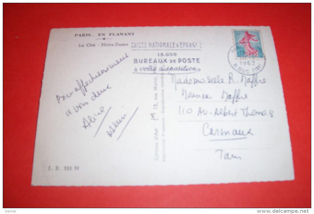 TIMBRE OBLITERATION FLAMME° 75 PARIS XVIII R DUC  °  FLAMME CAISSE NATIONALE D'EPARGNE 18000 BUREAUX DE POSTE - Marcophilie (Lettres)