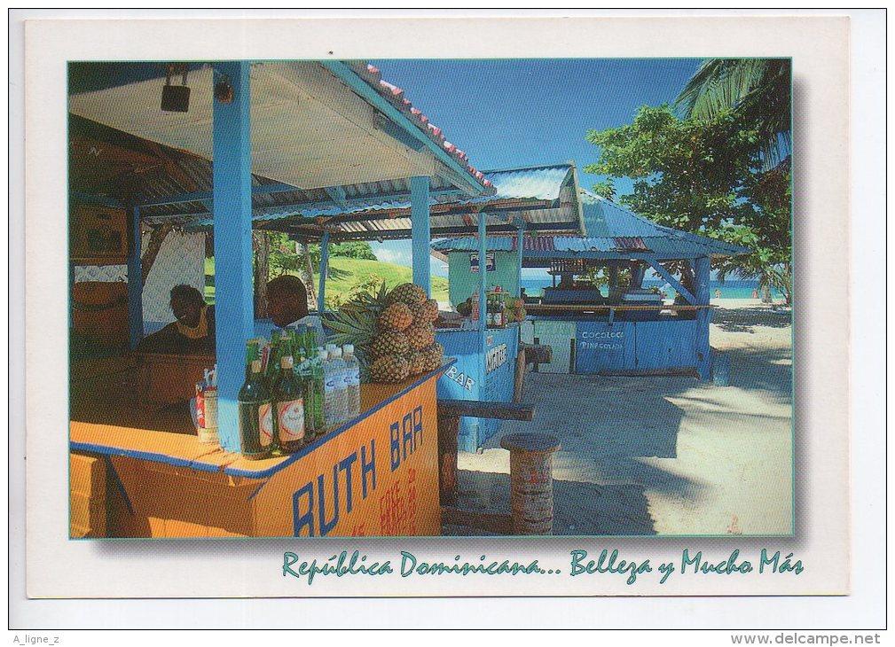 REF EY1 : CPM Carte Postale Grand Format République Dominicaine Republica Dominica Bar à Rhum - Dominicaine (République)