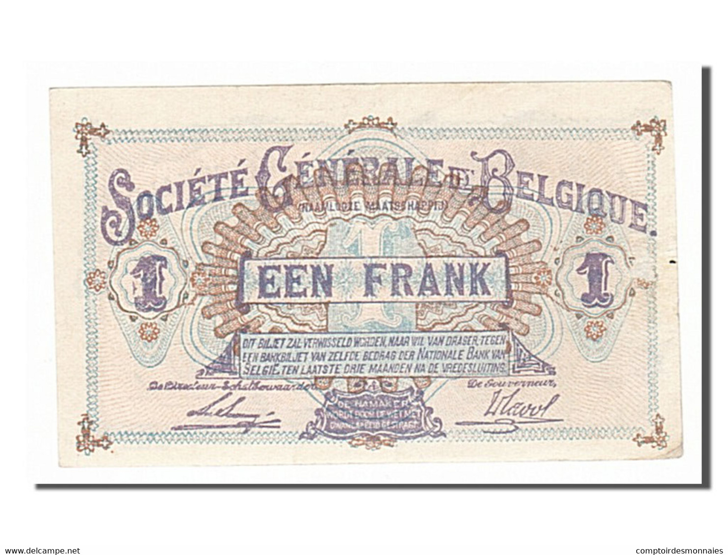 Belgique, 1 Franc Type Louise-Marie - Altri