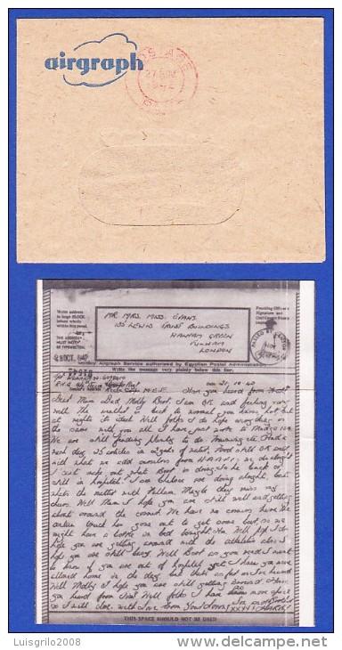 SECONDE GUERRE  MONDIALE - AIRGRAPH -- EVANS, FULHAM, LONDON - CACHET - 27.NOV.1942 - 2. Weltkrieg