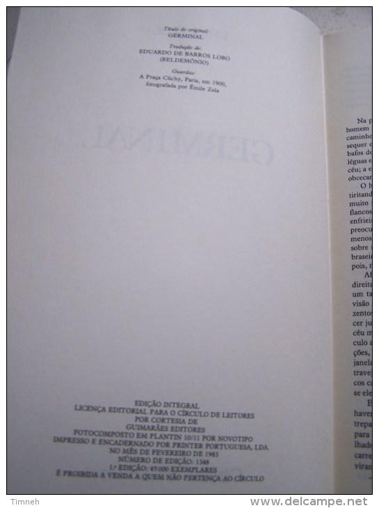 EN PORTUGAIS - GERMINAL EMILE ZOLA - EDITION INTEGRALE 305 PAGES - Livres, BD, Revues