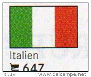 Set 6 Flaggen Italien In Farbe 4€ Zur Kennzeichnung Von Büchern, Alben Und Sammlungen Firma LINDNER #647 Flags Of Italy - Unclassified