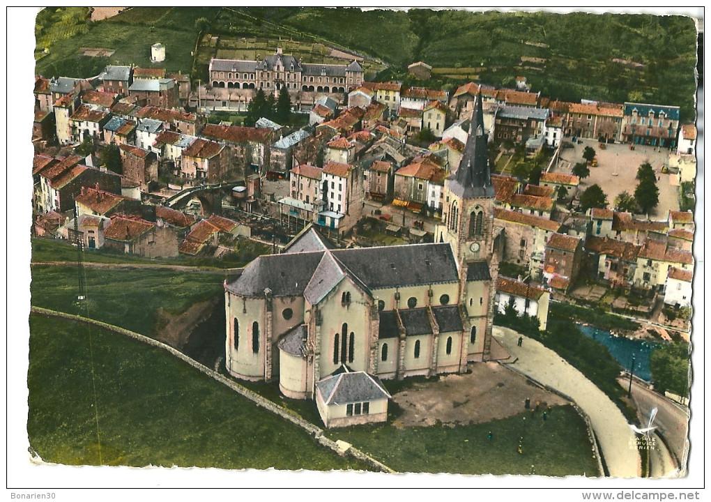 CPSM 12 CAMARES BELLE VUE  AERIENNE L´EGLISE - France