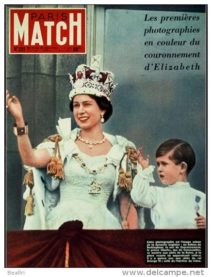 Paris Match N°221 - Le Couronnement De La Reine Elisabeth II - 13 Juin 1953 - Algemene Informatie