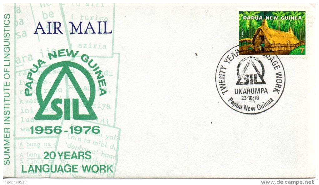 PAPOUASIE-NOUVELLE GUINEE. Enveloppe Commémorative De 1976. Linguistique. - Idioma