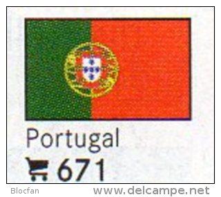 Set 6 Flaggen Portugal In Farbe 4€ Zur Kennzeichnung Von Büchern, Alben+ Sammlungen Firma LINDNER #671 Flags Of Republik - Other