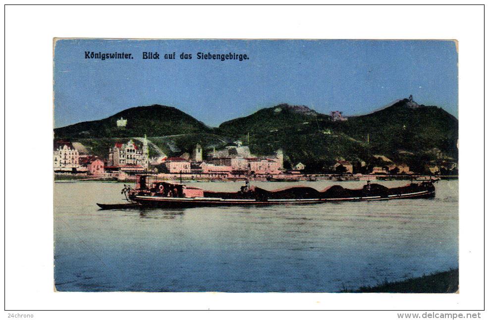 Allemagne: Konigswinter, Blick Auf Das Siebengebirge, Peniche (14-388) - Koenigswinter