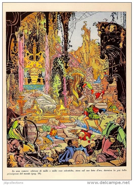 # DARK ESOTERIC TALE 1930s Art Print Stampa Gravure Poster Druck Italy Esoteric Sombre Oscuro Esoterische Dunkel - Religion & Esotericism