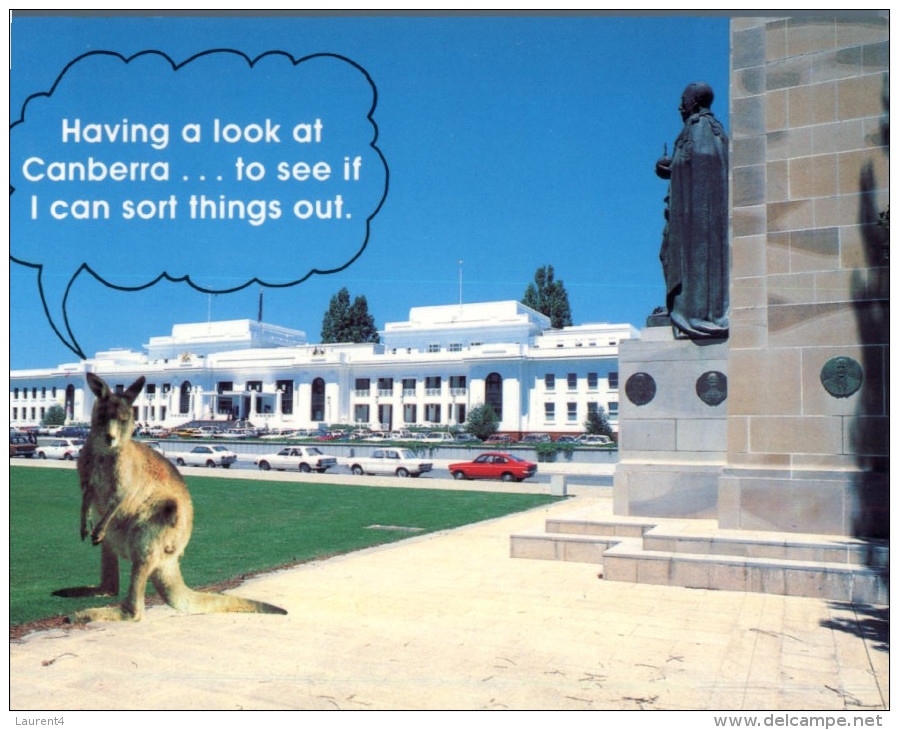 (799) Australia - ACT - Canberra Old Parliament Building + Kangaroo - Canberra (ACT)