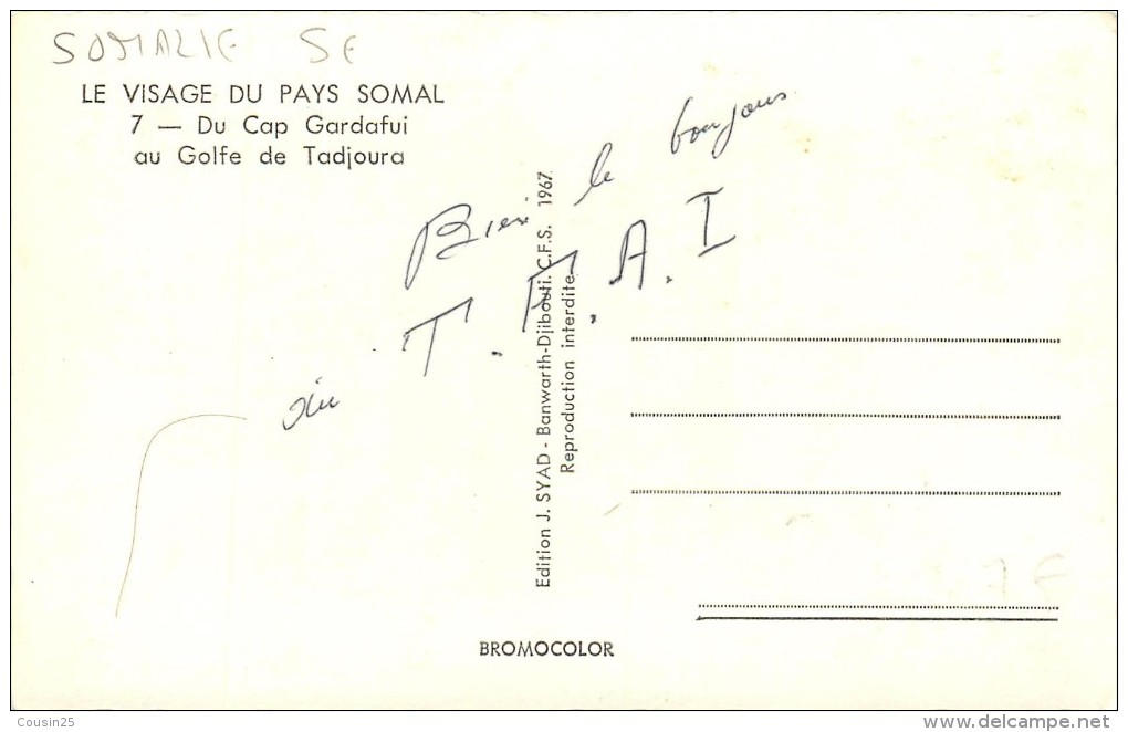 SOMALIE - Du Cap Gardafui Au Golfe Tadjoura - Somalie