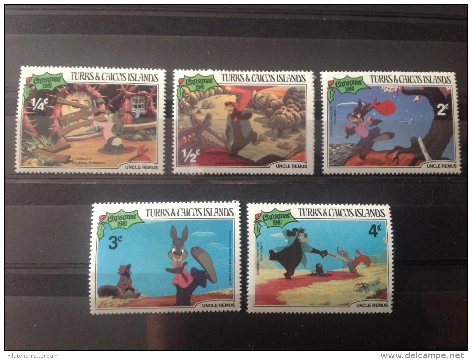 Turks & Caicos Islands - Postfris / MNH Serie Kerstmis Disney 1981 - Turks- En Caicoseilanden
