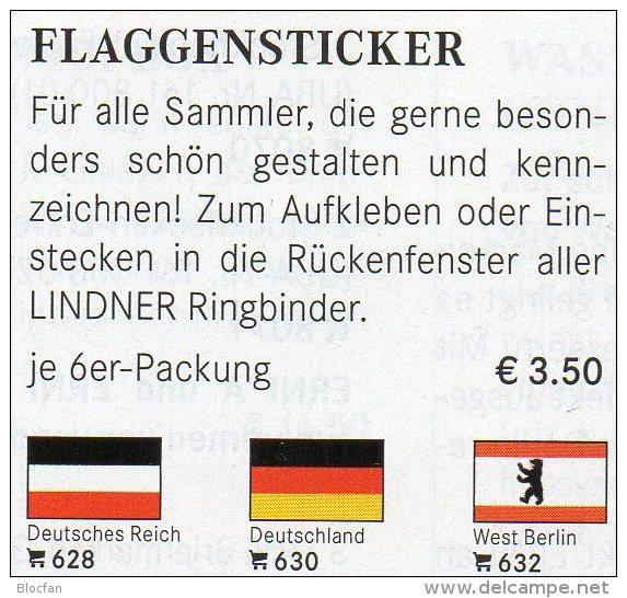 Set 3x2 Flags Variable In Color 4€ Zur Kennzeichnung Von Bücher, Alben Und Sammlung Firma LINDNER #600 Flag Of The World - Books, Magazines, Comics