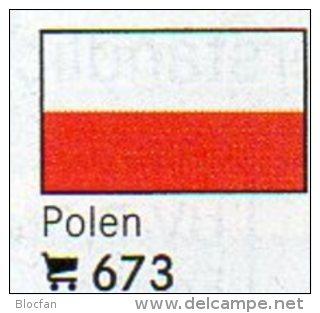 Set 6 Flags In Color Polen In Farbe 4€ Zur Kennzeichnung Bücher, Alben+Sammlung Poland LINDNER #673 Flag Polska Republik - Poland