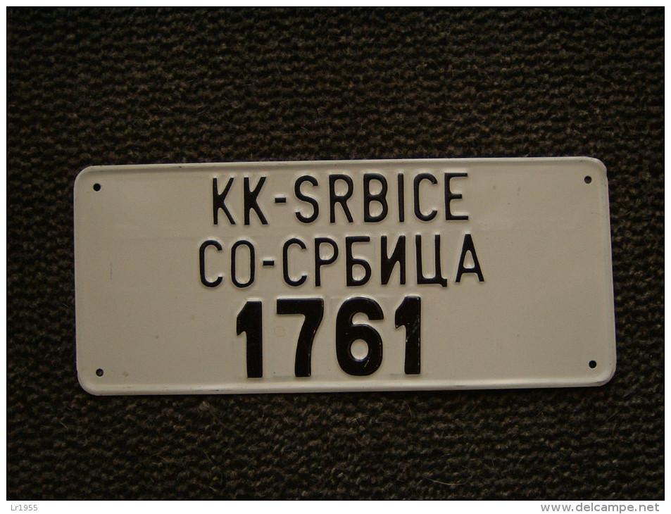 Authentique Plaque Minéralogique, Kosovo, Avant 2000. - Number Plates