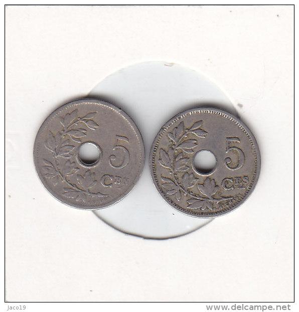 2 X 5 Centimes  Léopold II 1905 FR Et  FL - 03. 5 Centimes