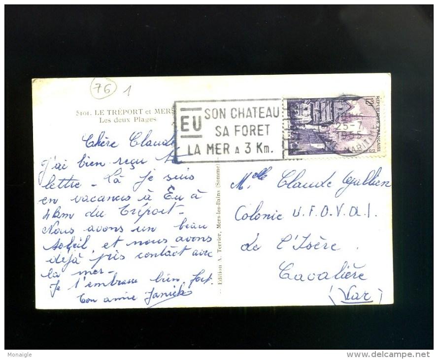 Le Treport Et Mers Les Deux Plages - Oblitération Eu  1955 - Le Treport