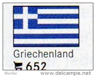 Set 6 Flags In Color Griechenland In Farbe 4€ Zur Kennzeichnung Von Büchern,Alben+Sammlungen LINDNER #652 Flag Of GREECE - Griechenland