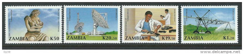 Zambia 1990 SC 515-518 Independence - Zambia (1965-...)
