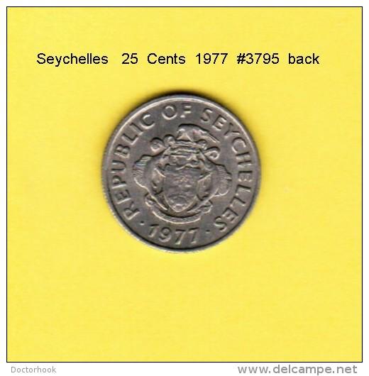 SEYCHELLES    25  CENTS  1977  (KM # 33) - Seychelles