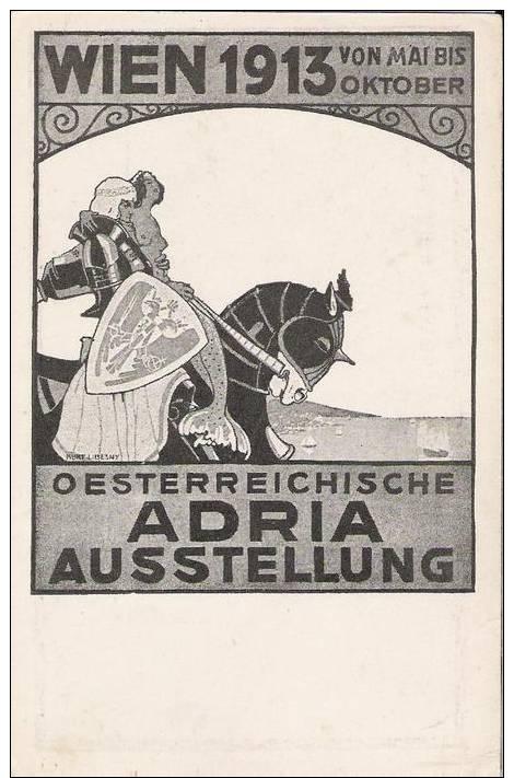 WIEN 1913 - Illustrateur Kurt Libesny - Oesterreichische Adria Ausstellung (sirène Meerjungfrau - Exposition Adriatique) - Vienne