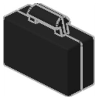 Lego 4449 Minifig, Suitcase Briefcase - Petite Valise  Noir - Lego System