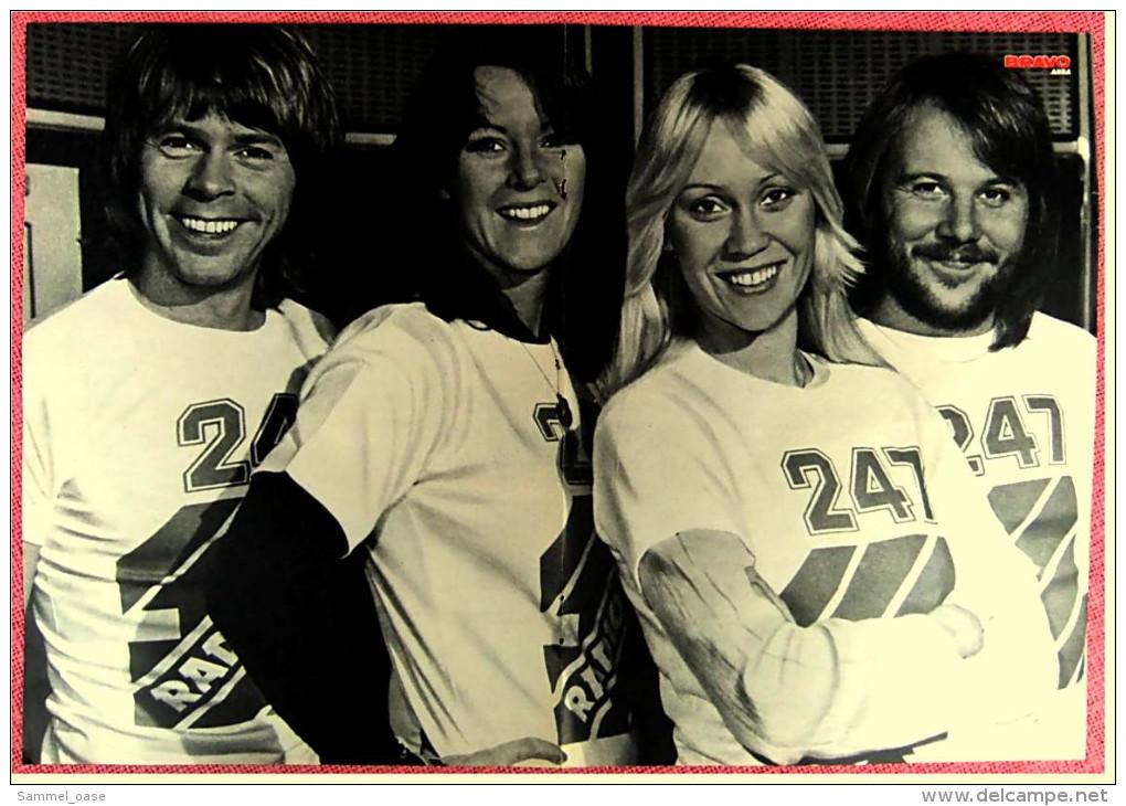 Kleines Musik Poster  -  Abba -  Rückseite : Steve Strange  -  Von Bravo Ca. 1982 - Plakate & Poster
