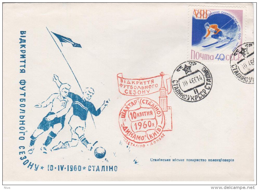 Ukraine USSR 1960 FDC Football Soccer, Shakhtar Donetsk (Stalino) - Dynamo Kiev Kiiv - 1923-1991 USSR