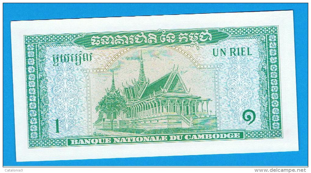 CAMBOYA -  1 Riel  ND SC  P-4 - Cambodia