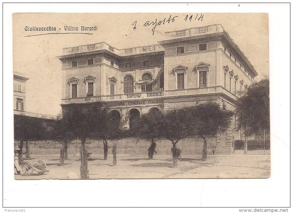 S-26 LAZIO CIVITAVECCHIA ROMA VILLINO BERARDI 1914 VIAGGIATA. - Civitavecchia