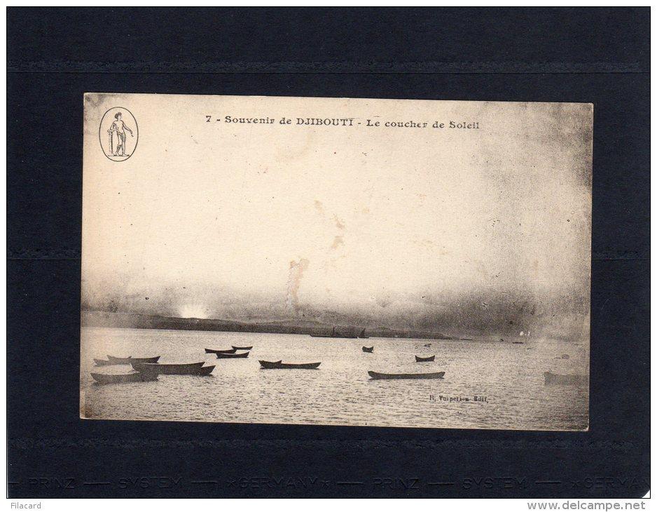 45523    Gibuti,  Souvenir  De  Djibouti,  Le  Coucher De  Soleil,  NV - Gibuti
