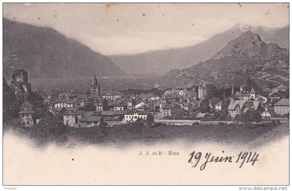 SION - Prise De Vue Non Conventionnelle - 19 Juin 1914 - VS Valais