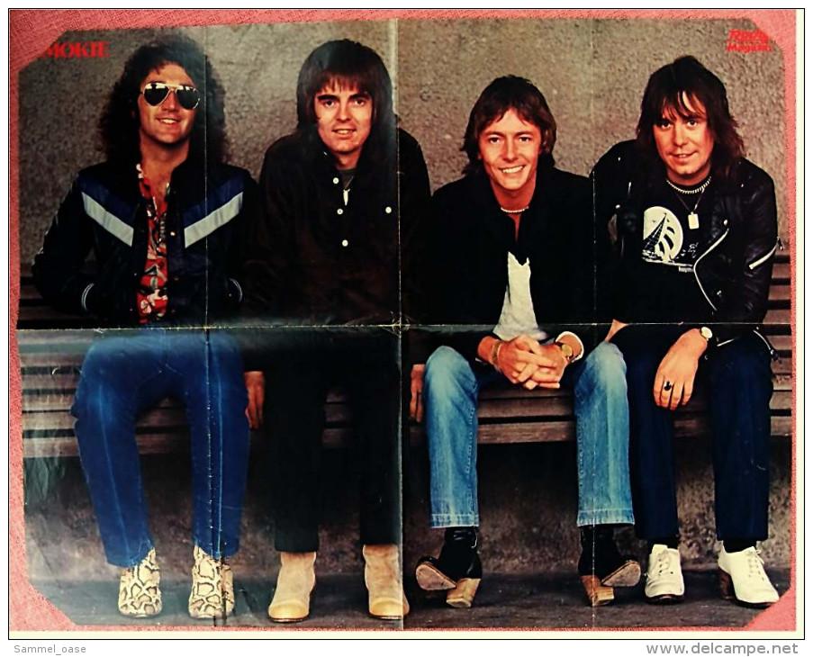 Musik-Poster  Smokie  -  Rückseitig Bernhard Brink  -  Von Pop-Rocky Ca. 1980 - Plakate & Poster