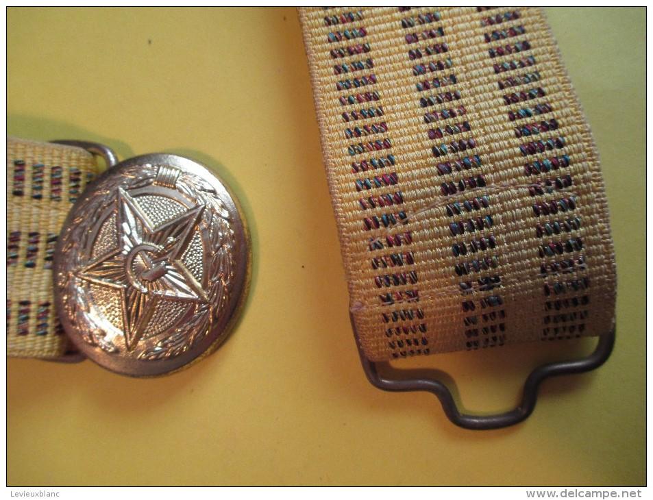 Ceinturon/Russie/ Boucle Avec Etoile-Marteau-Faucille/  /Vers 1970-1980    CEI15 - Equipement