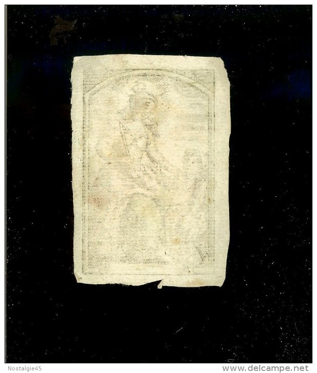 Image Religieuse Parchemin Aquarelle Fin XVIII  /  Ste Jeanne - Other