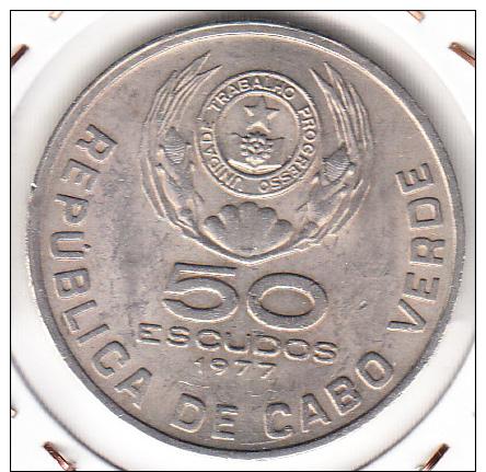 CABO VERDE 1977. 50 ESCUDOS.AMILCAR CABRAL NUEVA SIN CIRCULAR.MUY BONITA. CN 1184 - Cap Vert