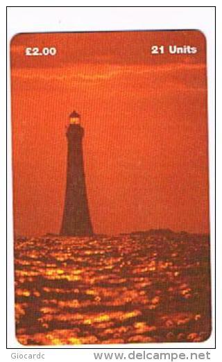 ISLE OF MAN - MANX TELECOM CHIP - CHICKEN ROCK LIGHTHOUSE  -  (USED) RIF.IOM30 - RIF. 7728 - Isola Di Man