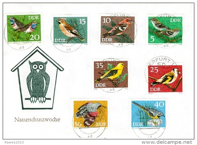 DDR Mi. 1834 - 1841 FDC Geschützte Singvögel - Covers