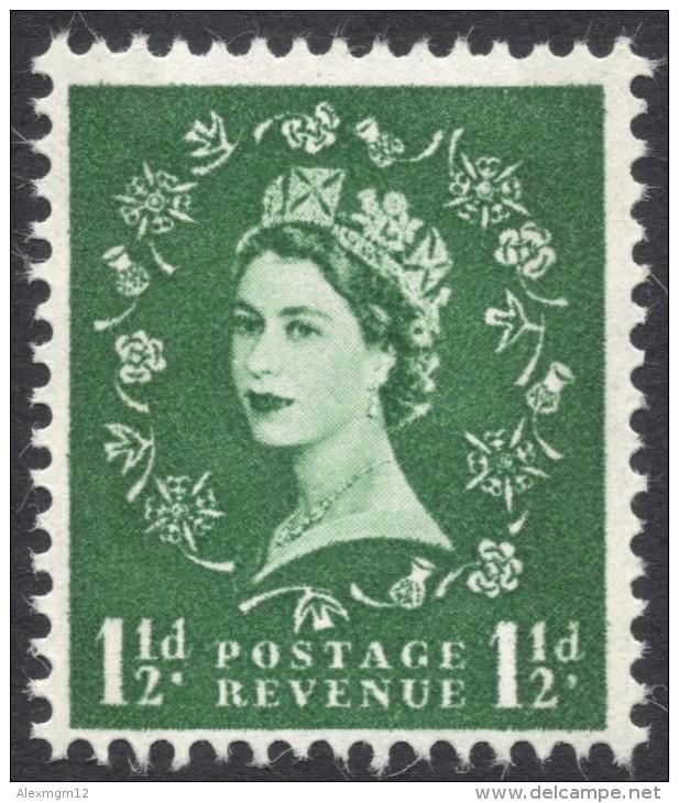 Great Britain, 1 1/2 P. 1960, Sc # 355p, Mi # 320yX, MH - 1952-.... (Elizabeth II)