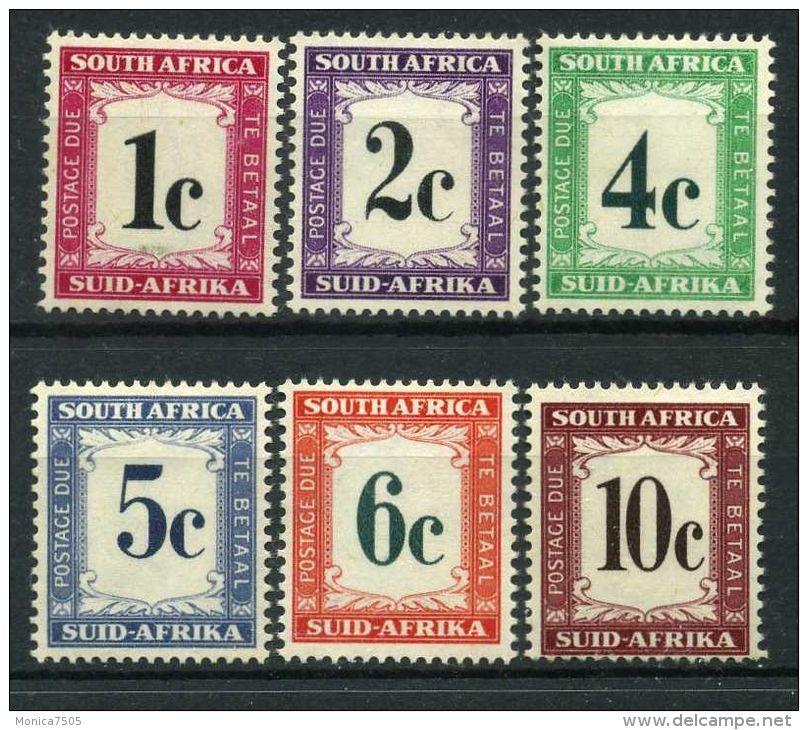 AFRIQUE DU SUD : (TAXE)  Y&T  N° 42/47  ,  TIMBRES  NEUFS/MH  AVEC  TRACE  DE  CHARNIERE   ,  A   VOIR . - Afrique Du Sud (1961-...)