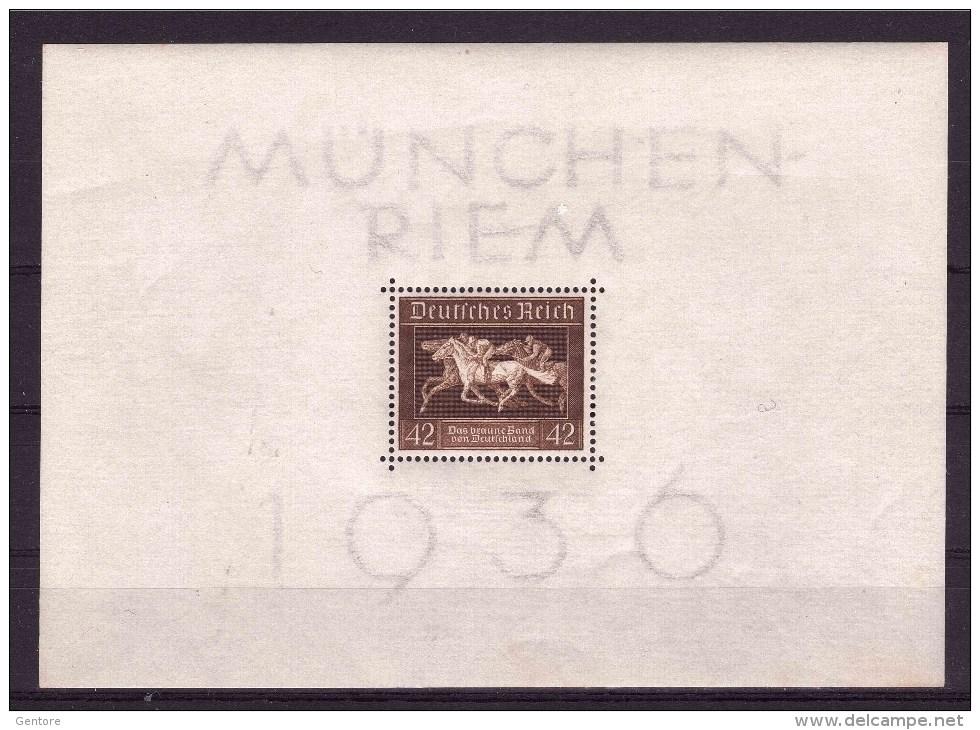GERMANY EMPIRE 1936 Horse Show  Brown Belt Michel Cat  N° Block 4  MNH** - Horses