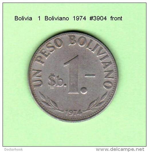BOLIVIA    1  BOLIVIANO  1974   (KM # 192) - Bolivia