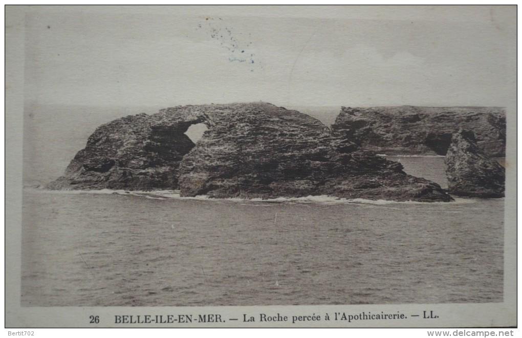 56 - BELLE-ILE-EN-MER -la Roche Percée à L´Apothicairerie - Belle Ile En Mer