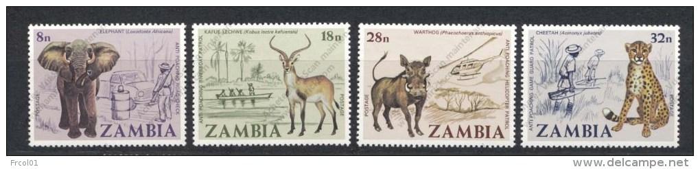 Zambia, Yvert 181/184, Scott 184/187, MNH - Zambie (1965-...)